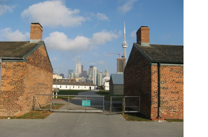 View from Fort York Gate