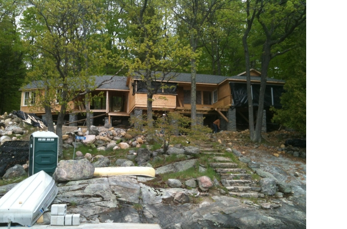 Crossan-Zimmer Cottage under construction
